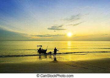 fisherman at beach