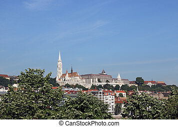 Fisherman bastion and Matthias church Budapest landmark