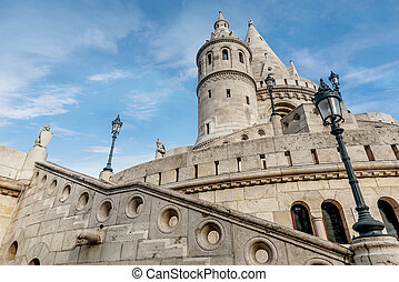 Fisherman Bastion, Buda Castle in Budapest, Hungary