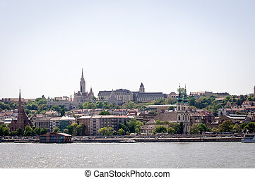 Fisherman Bastion in Budapest city, Hungary .