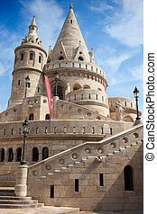 Fisherman Bastion in Budapest - Designed in 19th century...