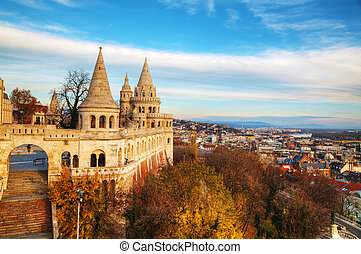Fisherman bastion in Budapest, Hungary