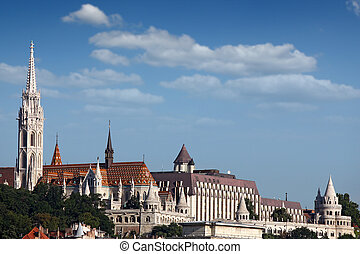 Fisherman bastion landmark Budapest cityscape