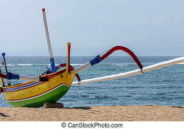 fisherman boat in Bali