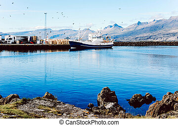 Fisherman boats in South Iceland.