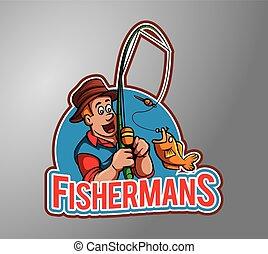 Fisherman Illustration design badge