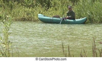 Fisherman in a boat