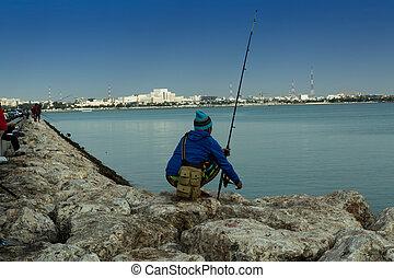 Fisherman is waiting