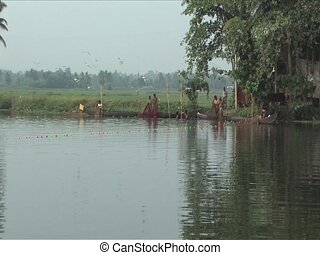 Fisherman on the Backwaters of Alleppey India