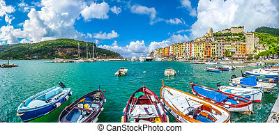Fisherman town of Portovenere, Liguria, Italy - Beautiful...