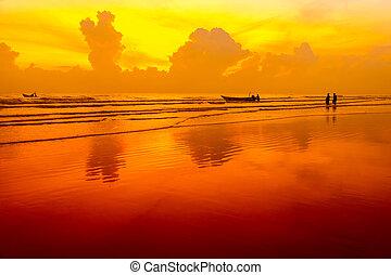 fisherman via sunrise