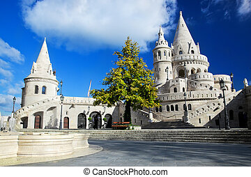 Fisherman's Bastion on the Buda Castle hill in Budapest, Hungary