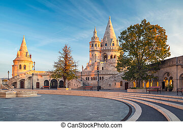 Fisherman's Bastion, Budapest. - Image of the Fisherman's...