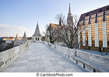 Fisherman's Bastion in Budapest, Hungary