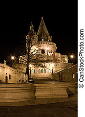 Fisherman's bastion night view, Budapest