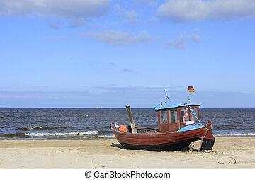 Fishermans boat Baltic Sea