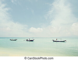 Fisherman's boats in the sea