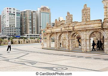 Fisherman's Wharf, Macau - MACAU-JAN 26 : Tourists visit ...