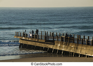 Fishermen at End of Pier