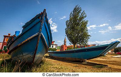 Fishermen boat on Murano Island