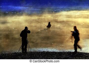 Fishermen in a fog