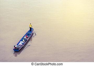 Fishermen in the boat.