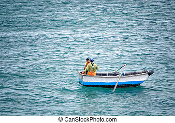 fishermen in the boat