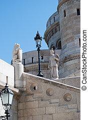 landmark in Budapest. Fishermen's Bastion. Hungary.