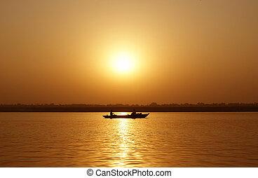 Fishermens' Boat at Sunset