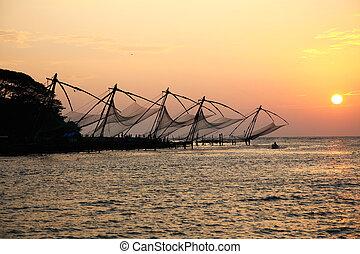 fishernets, kochi, chinesisches