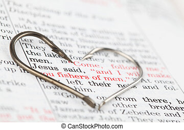 Fishers of men - Fishing hooks on the Bible with focus on a ...