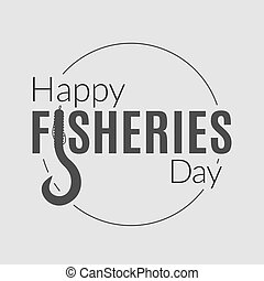 Fishery logotype - International fisheries day logo. Vector...