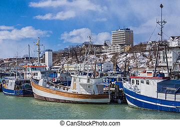 Fishery port in Sassnitz (Germany).