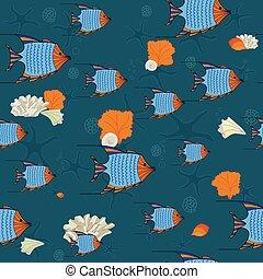 Fishes and seashells