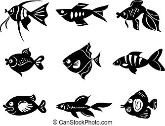 Fishes icon set