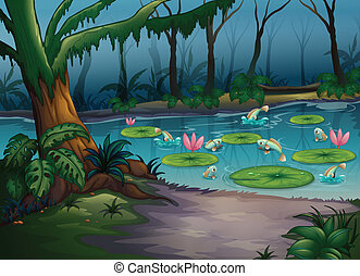 Fishes in the jungle
