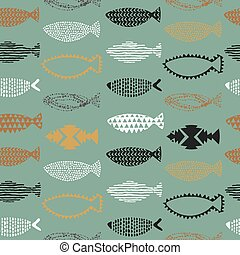 Fishes seamless pattern.