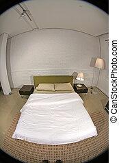 Fisheye Image of a Modern Bedroom