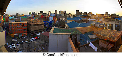 fisheye view of Nairobi