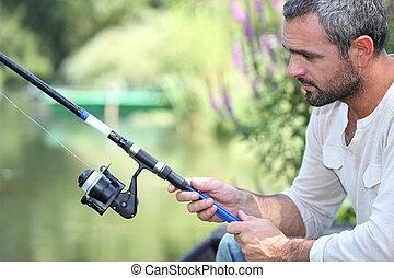 fishing., 남자