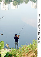 Fishing at the city park 2