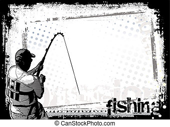 fishing background in the vectors