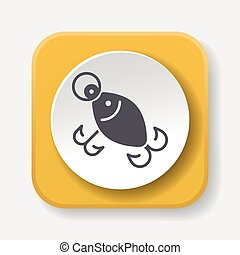 fishing bait icon
