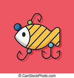 fishing bait vector icon