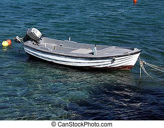 Fishing Boat and Mediterranean Sea, Crete