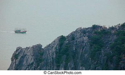 Fishing boat at Ha Long Bay