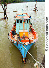 Fishing Boat at Low Tide Malaysia