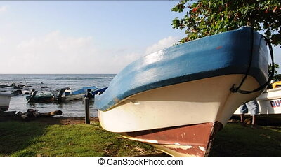 fishing boat Caribbean Corn Island - native panga fishing...