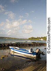fishing boat Caribbean Sea Corn Island Nicaragua