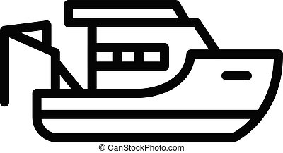 Fishing boat crane icon, outline style